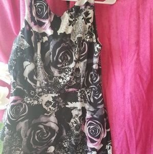 Dresses & Skirts - Grey and lilac rose dress